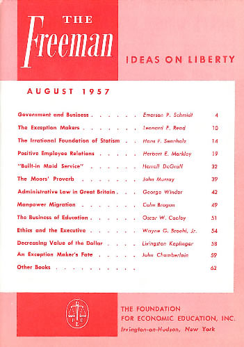 cover image August 1957