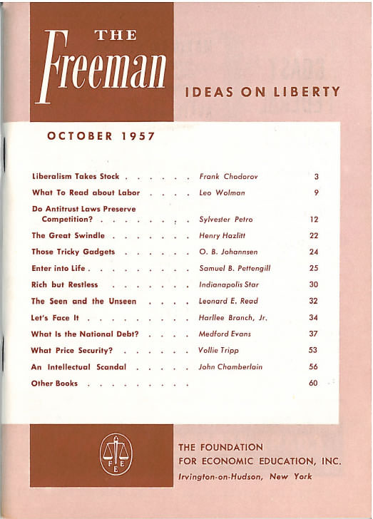 cover image October 1957