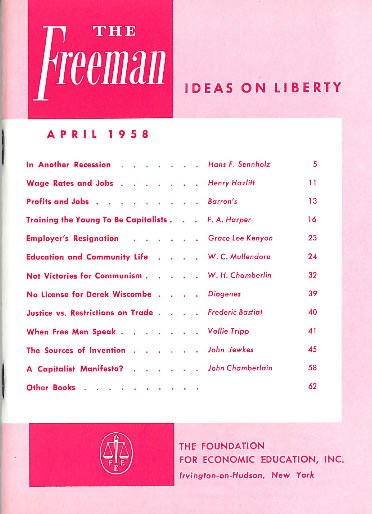 cover image April 1958