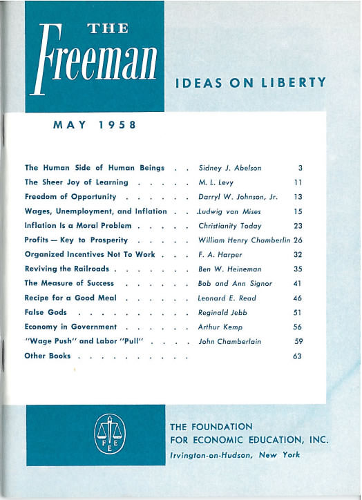 cover image May 1958