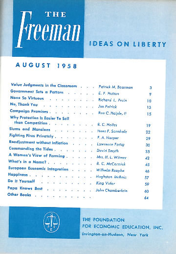 cover image August 1958