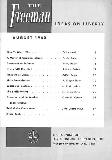 cover image August 1960