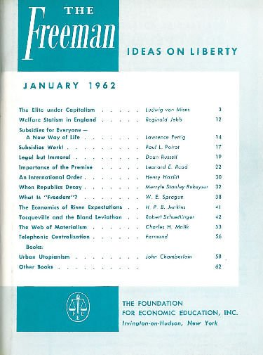 cover image January 1962