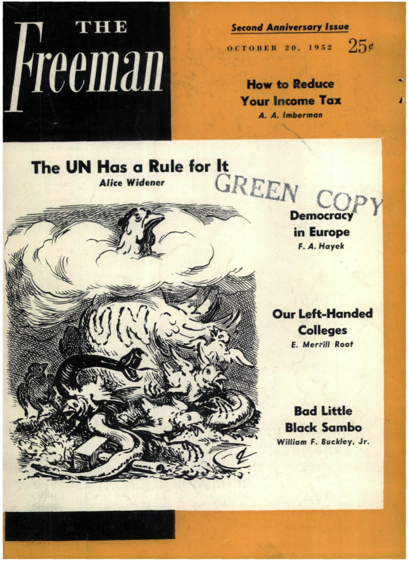 cover image October 1952 B