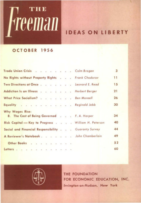 cover image October 1956