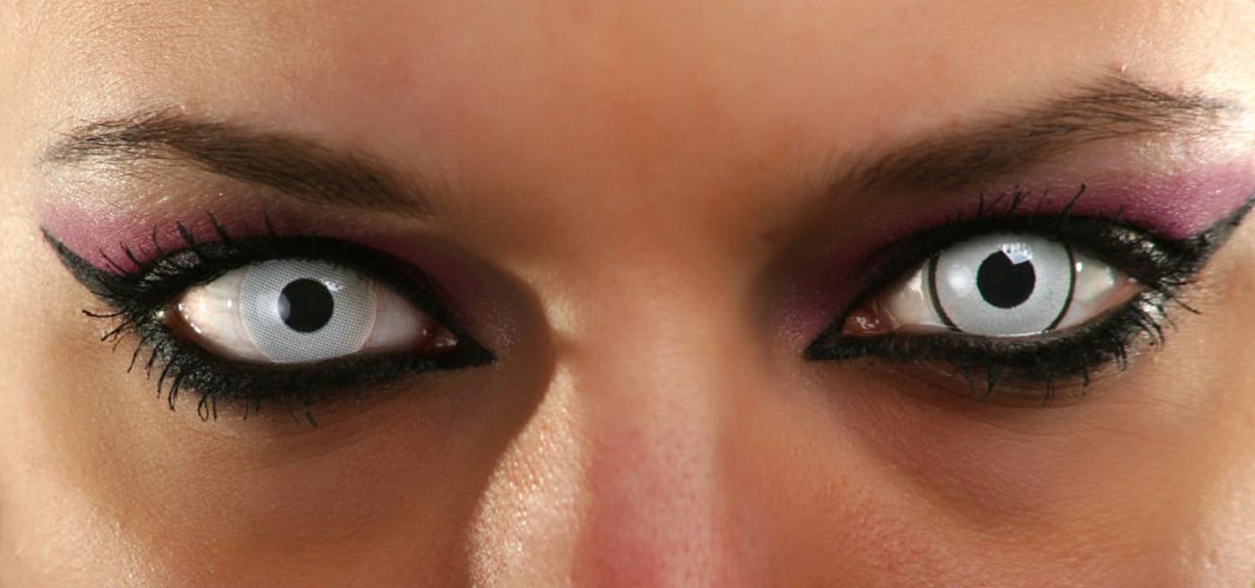 Black eye contact lenses