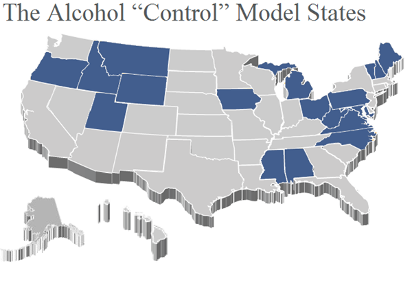 Ways Alcohol Prohibition Is Still With Us In America Today - Map of the us in the prohibition