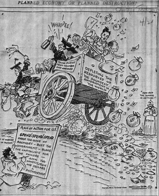 3 Great Great Depression Cartoons Foundation For Economic Education