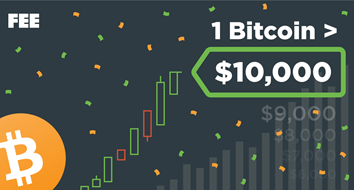 Celebrate 1 Bitcoin = $10K with FEE