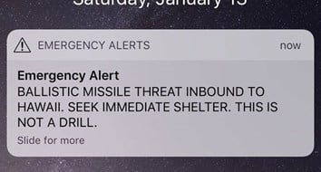 Missile False Alarm in Hawaii: How Wrong Buttons Can Wreak Havoc