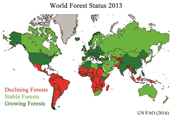 Map Of World Forests.Go Ahead And Print Your Emails The Forests Are Just Fine