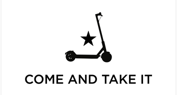 Don't Tread on My Electric Scooter