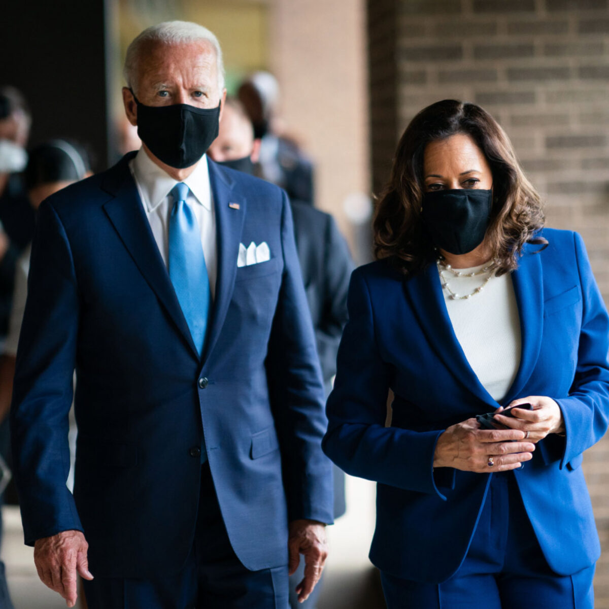 Biden Ignores His Own Mask Mandate on First Day. 'Bigger Issues to Worry About,' Says WH Press Secretary